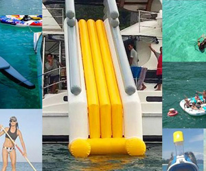 Water toys on private boat in Phuket